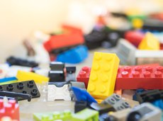 legos on floor