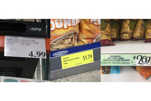 Tortilla Chips: Costco, Aldi, and TJ's