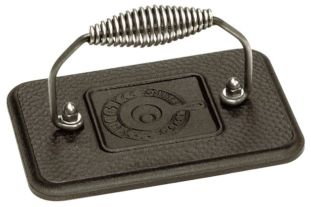 Lodge LGP3 Rectangular Cast Iron Grill Press