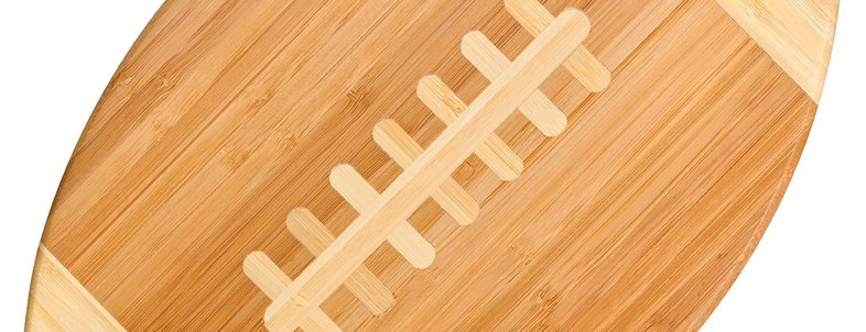 Football-Shaped Cutting Board