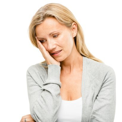 mature woman worried