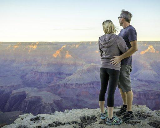 couple at South Rim Grand Canyon