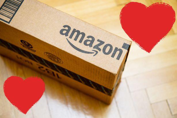 amazon box with hearts
