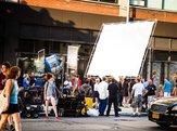movie crew on streets of New York City