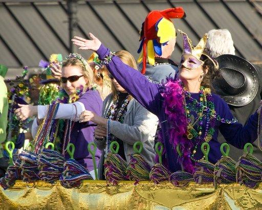 The Mardi gras big tit granny