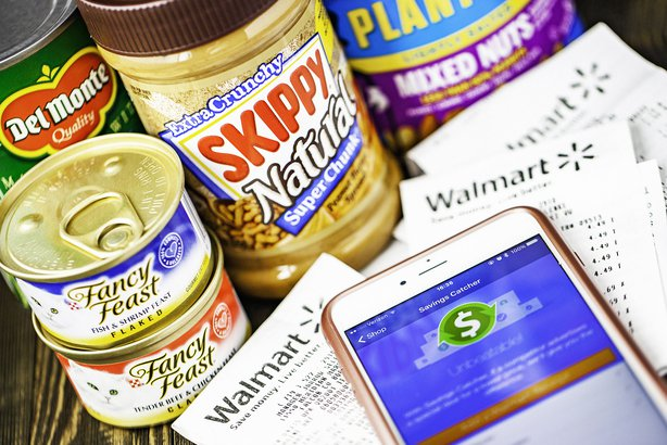 Walmart Savings Catcher app with grocery items