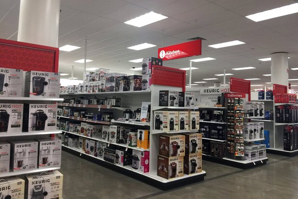 kitchen aisle in Target