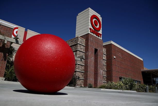 Target logo is displayed on the exterior of Target store