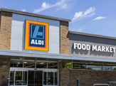Front view of Aldi store
