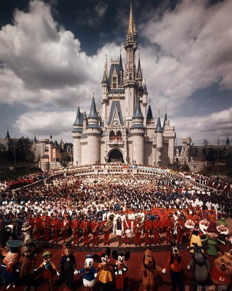 Picture of Disney World in 1971