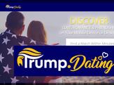 Screen shot of Trump.Dating website