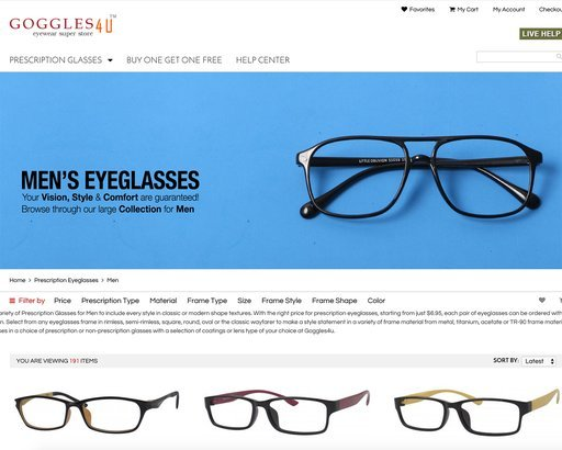eyes glasses online  18 Places to Buy Cheap Prescription Glasses Online