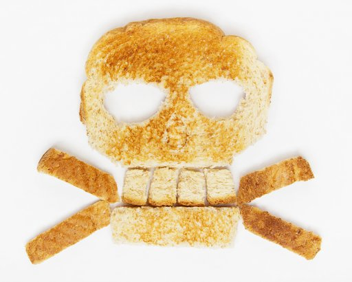 skull made out of bread