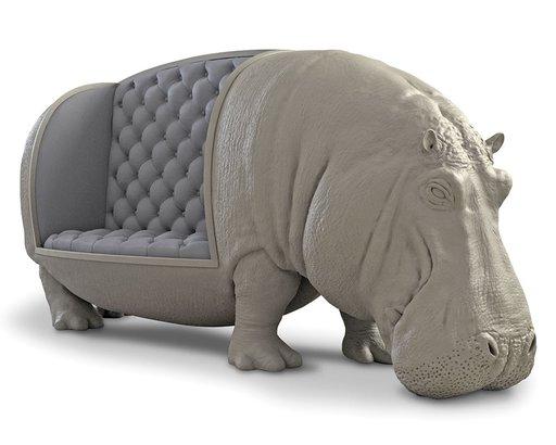 Hippopotamus Sofa, Hammacher Schlemmer