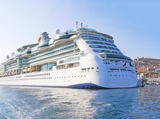 Cruise ship in the Mediterranean