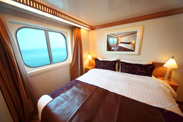 Interior of a cruise cabin