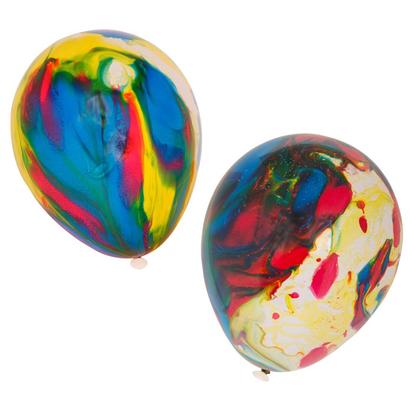Marbleized balloons