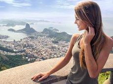 woman overlooking Rio de Janeiro
