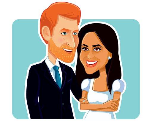 Harry and Meghan cartoon