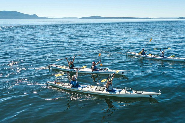 sea kayak in the San Juan Islands, Washington