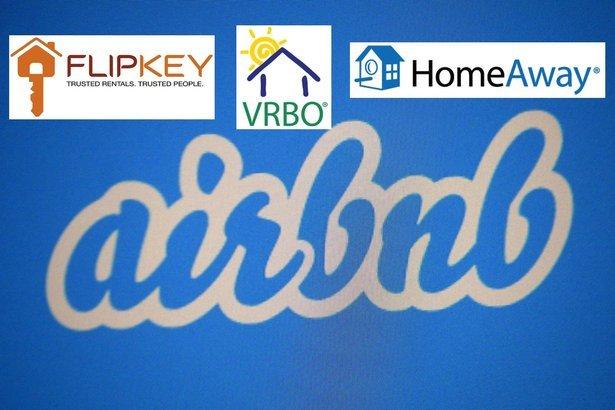 Airbnb, FlipKey, VRBO, HomeAway logos