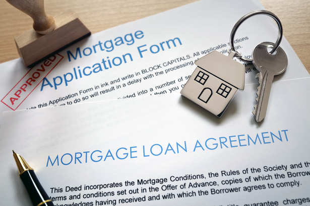 Mortgage loan approval papers