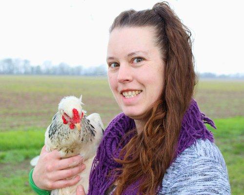 Maat van Uitert, founder of Pampered Chicken Mama