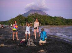 tourist photo on Island Ometepe in Lake Nicaragua
