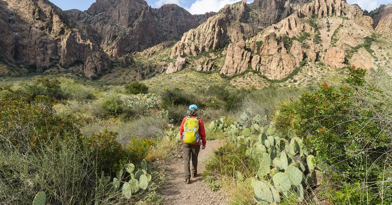 woman hiking in Big Bend National Park, Texas