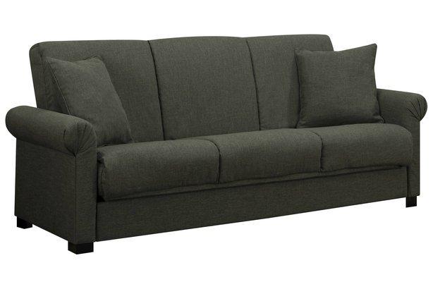 Robert Basil Green Linen Convert-a-Couch