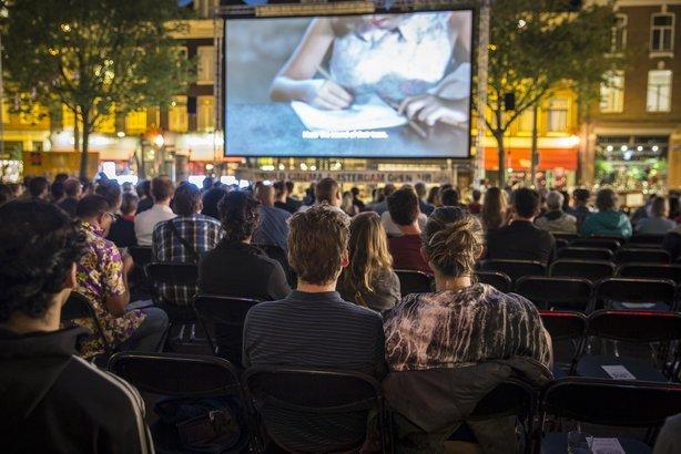 open air screening of a film
