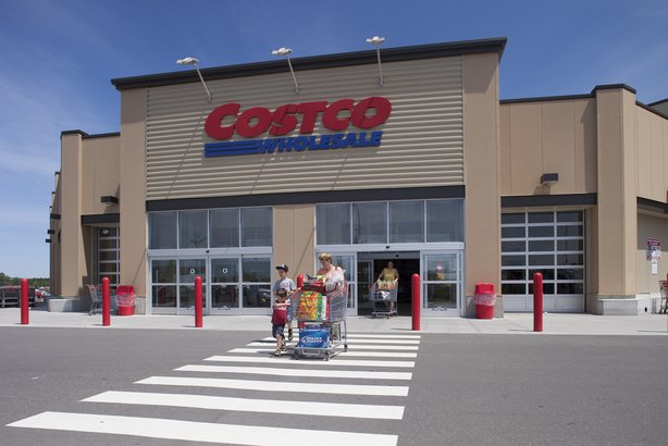 Costco store with people coming out