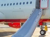 activated emergency slide on the plane