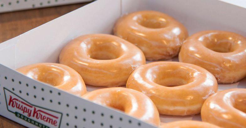 Krispy Kreme's Glazed Doughnuts in box