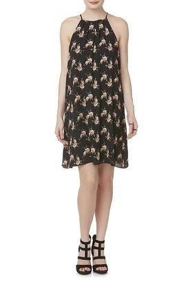 Justify Juniors' Halter Dress - Rose Floral