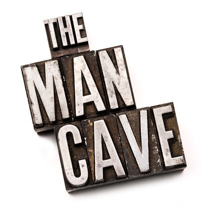 'The Man Cave' in letterpress type