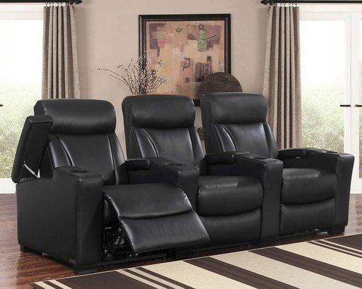 Romano 3-piece Top Grain Leather Power Media Recliners