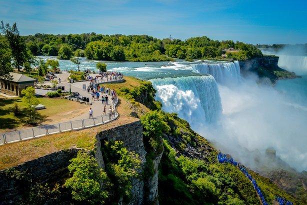 Niagara Falls in New York, and Canada