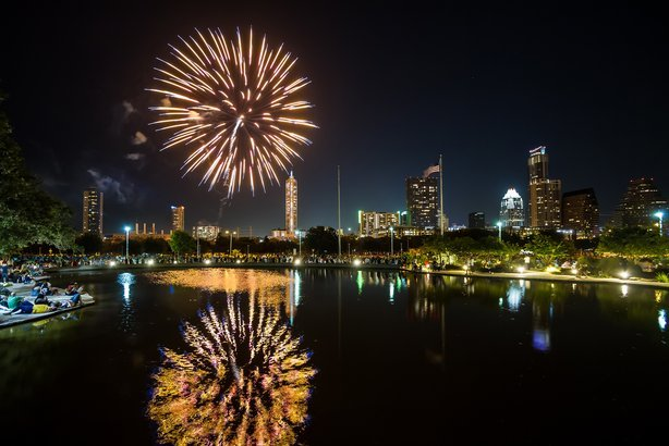 fireworks in Austin, Texas