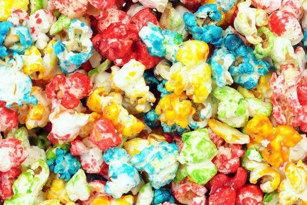 colorful popcorn