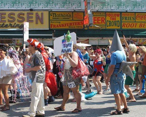 The Mermaid Parade in Coney Island, New York