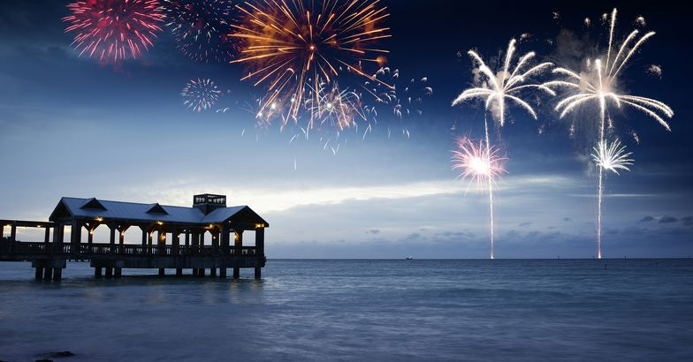 fireworks at The Key Lime Festival, Key West, Florida