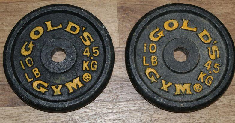 Vintage 60s Gold's Gym 10 lb. Barbell Plates