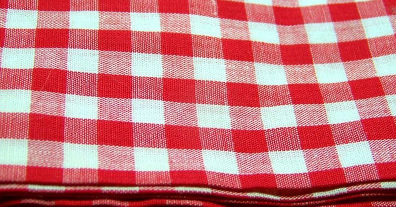 Vintage 60s Gingham Fabric