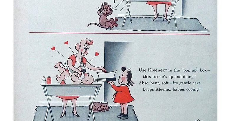 Kleenex Tissues 60's Vintage Print Ad
