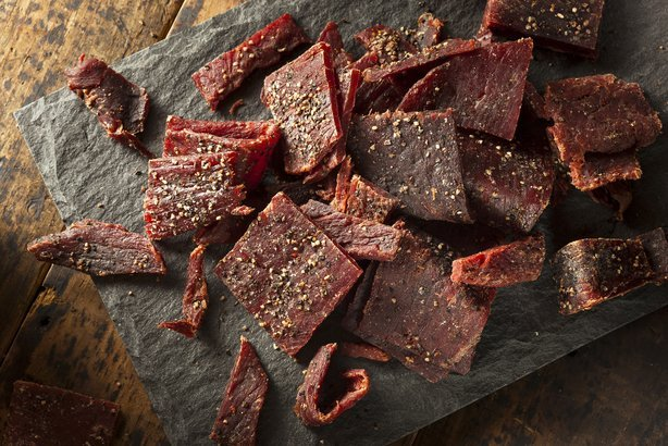 Celebs-Dried Peppered Beef Jerky Cut in Strips