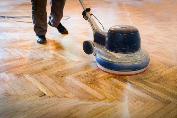 polishing wooden floor