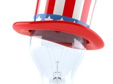 USA hat with light bulb