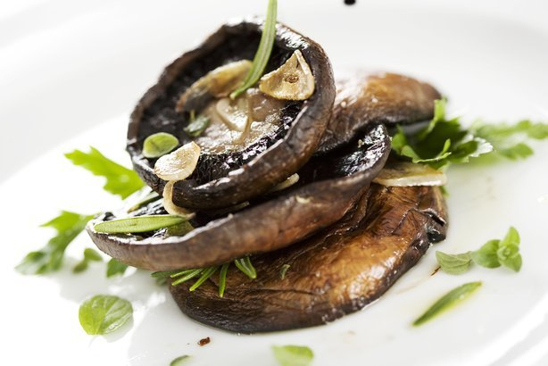 Grilled Garlic Mushrooms