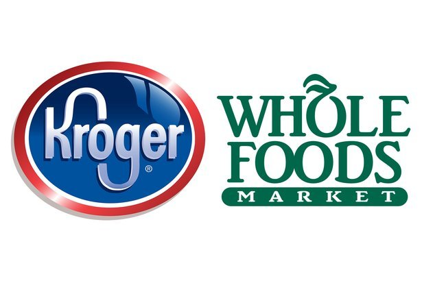 Kroger and Whole Foods Market logos
